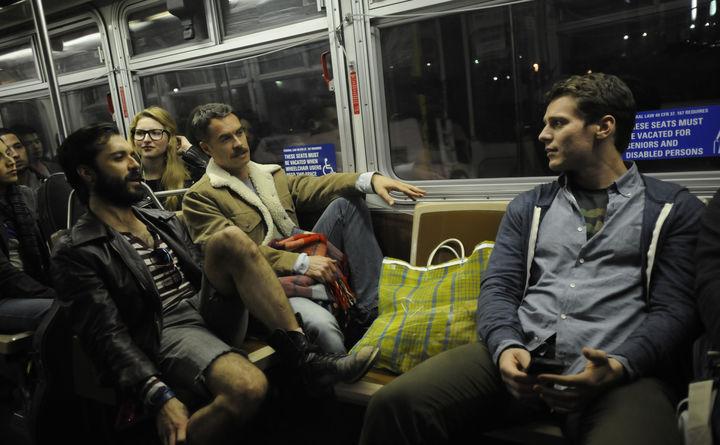 Геи секс в метро